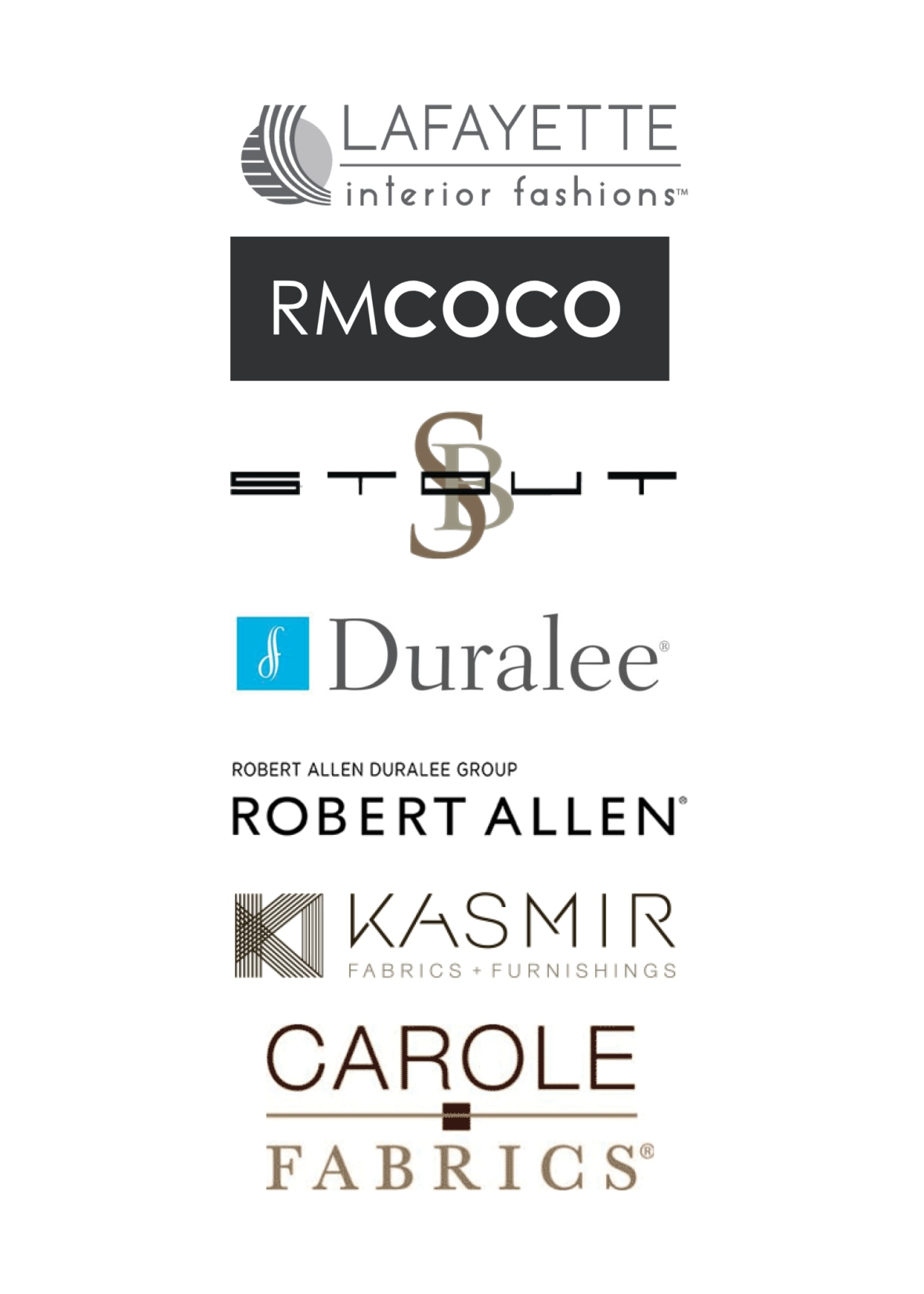 Window Treatment Vendor Logos