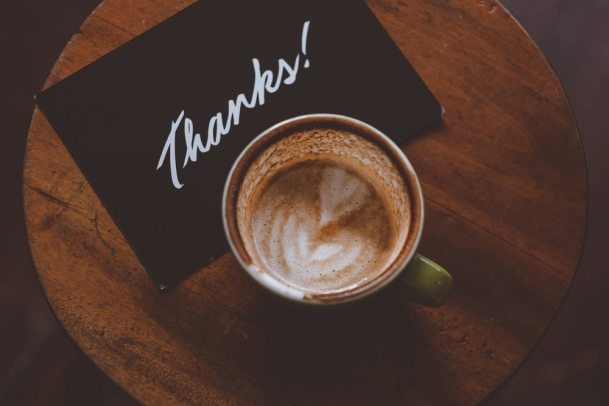 thanks coffee