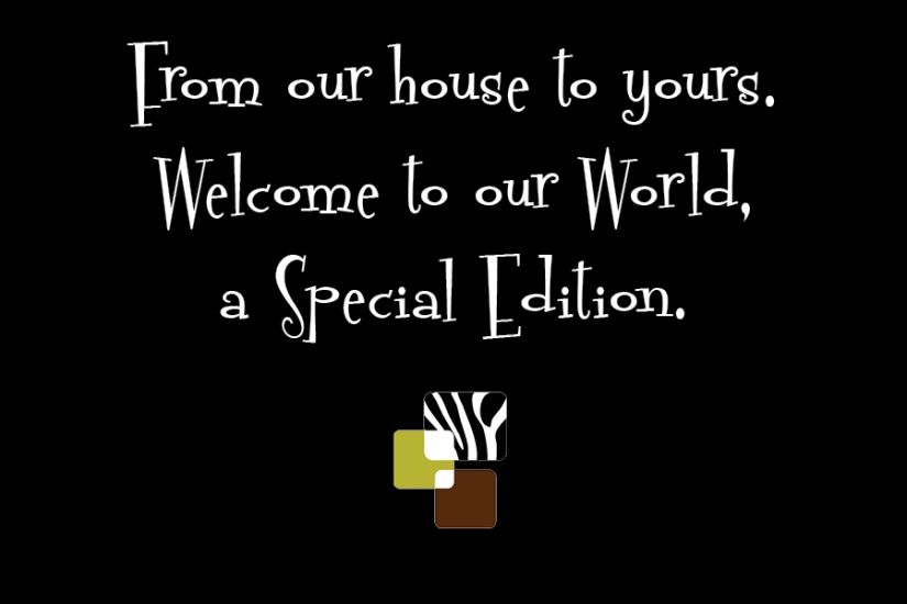 Welcome to our World graphic
